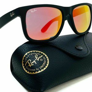 Ray-Ban Justin Classic Matte Black Red Lens